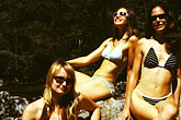 three women only stock photography | California, Big Sur, Bikinis, image id S4-220-3
