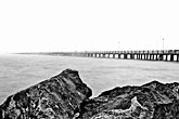 black and white stock photography | California, Berkeley, Pier, image id S5-144-1289