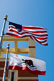 vertical stock photography | Flags, US and California Flags, image id S5-145-72