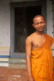 portrait stock photography | Cambodia, Angkor Wat, Buddhist monk, image id 0-400-73