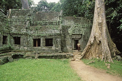 image 0-401-20 Cambodia, Angkor Wat, Ta Prohm