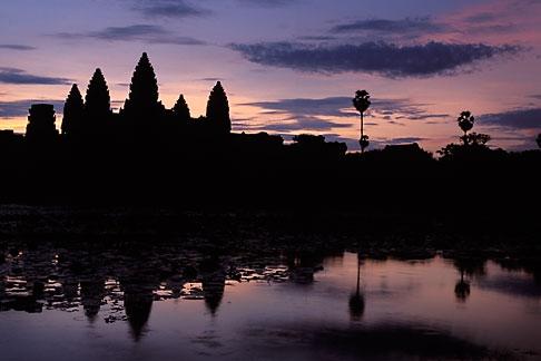 image 0-402-22 Cambodia, Angkor Wat, Dawn at Angkor Wat