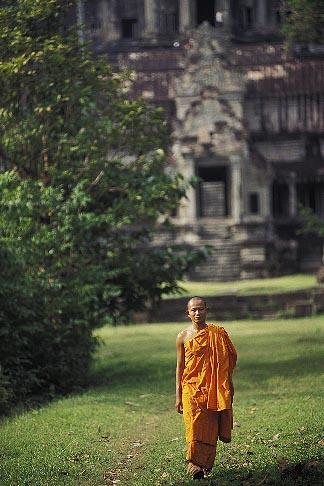 image 0-402-29 Cambodia, Angkor Wat, Buddhist monk