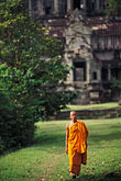on foot stock photography | Cambodia, Angkor Wat, Buddhist monk, image id 0-402-29