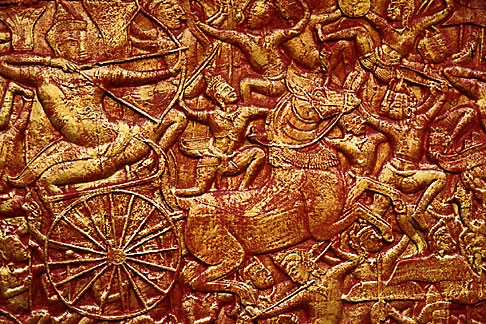 image S3-205-1 Cambodia, Phnom Penh, Royal palace, relief detail