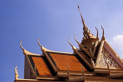 image S3-205-6 Cambodia, Phnom Penh, Royal palace, Roof of Throne Hall