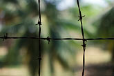 asian stock photography | Cambodia, Phnom Penh, Tuol Sleng Genocide Museum, barbed wire, image id S3-205-7