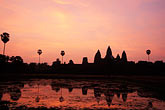 black stock photography | Cambodia, Siem Reap, Sunrise, Angkor Wat, image id S3-205-9
