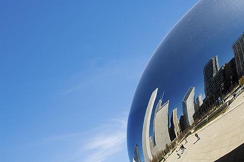 image 6-435-4732 Illinois, Chicago, Millennium Park reflecting sculpture