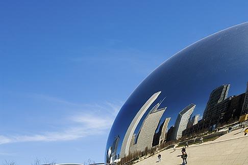 image 6-435-4733 Illinois, Chicago, Millennium Park reflecting sculpture