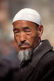 white cap stock photography | China, Gansu Province, Hui farmer, Linxia County, image id 4-115-25