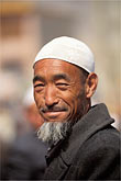 white cap stock photography | China, Gansu Province, Hui man, Linxia County, image id 4-115-26