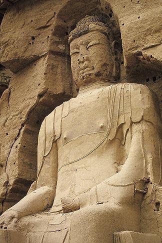 image 4-135-26 China, Gansu Province, Statue of Maitreya Buddha, Bingling si Grottoes