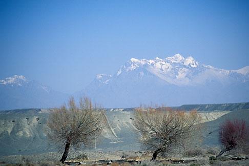 image 4-143-28 China, Xinjiang, Tian Shan mountains between Turpan and Urumqi
