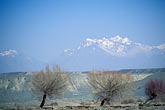 blue stock photography | China, Xinjiang, Tian Shan mountains between Turpan & Ur�mqi, image id 4-143-28