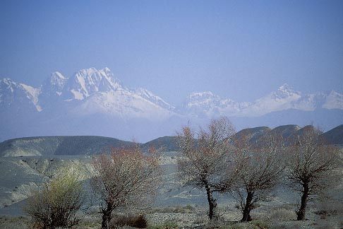 image 4-143-29 China, Xinjiang, Tian Shan mountains between Turpan and Urumqi