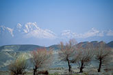blue stock photography | China, Xinjiang, Tian Shan mountains between Turpan & Ur�mqi, image id 4-143-29