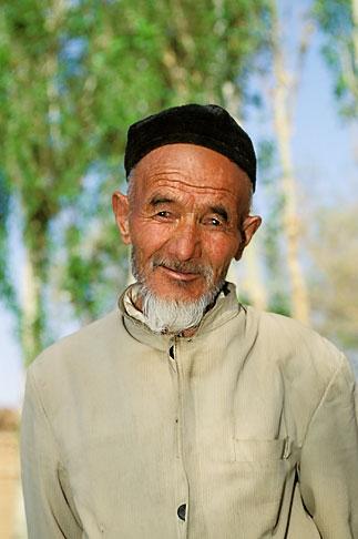 image 4-147-24 China, Turpan, Uighur man