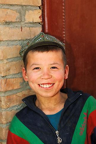 image 4-147-57 China, Turpan, Uighur boy