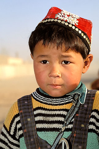image 4-155-30 China, Turpan, Uighur boy near the city of Gaochang