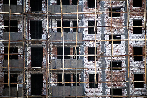 image 4-166-16 China, Urumqi, Building under construction