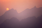 isolation stock photography | China, Beijing, Sunset from the Great Wall, Mutianyu, image id 4-182-31