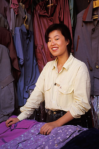 image 4-333-33 China, Beijing, Shopkeeper, Wangfujing