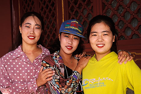 image 4-340-29 China, Beijing, Young women visiting the Summer Palace