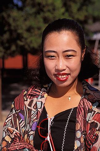 image 4-345-82 China, Beijing, Young woman visiting the Summer Palace