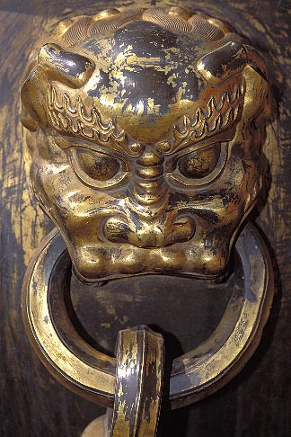 image 4-355-66 China, Beijing, Gilt bronze vat, Imperial Palace