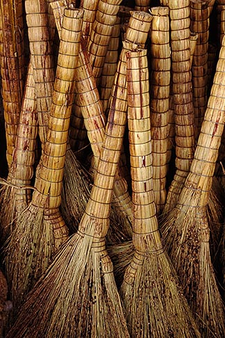image 4-375-19 China, Lanzhou, Straw brooms