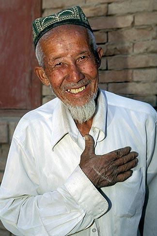 image 4-395-24 China, Turpan, Uighur man in village of Astana