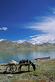 at the foot of mustagh ata stock photography | China, Pamirs, Karakul Lake, at the foot of Mustagh Ata, image id 4-439-2