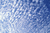 light blue stock photography | Clouds, Altocumulus clouds, image id 4-300-23
