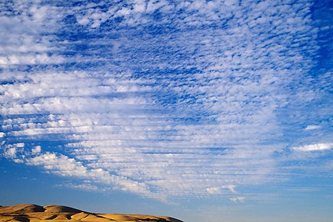 image 4-300-31 Clouds, Altocumulus clouds and hillside