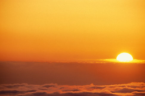 image 7-261-9 Clouds, Sunset on fog