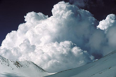 image 9-0-26 California, Mt Shasta, Cumulonimbus clouds over Shastina