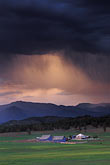storm clouds and farm near durango stock photography | Colorado, Storm clouds and farm near Durango, image id 6-250-8