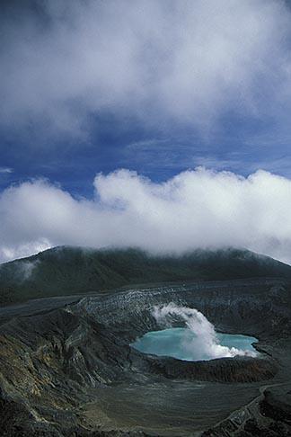 image 8-437-11 Costa Rica, Poas Volcano, Crater and steam
