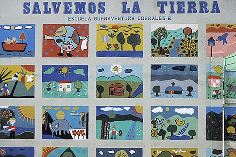 image 8-439-20 Costa Rica, San Jose, Mural of childrens art
