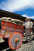 decorated oxcart stock photography | Costa Rica, San Jose, Pueblo Antiguo, oxcart, image id 8-451-14