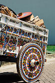 colour stock photography | Costa Rica, San Jose, Decorated oxcart, image id 8-460-21