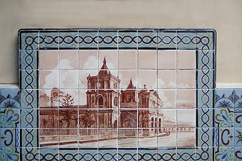image 8-460-32 Costa Rica, San Jose, Painted tile of old San Jose
