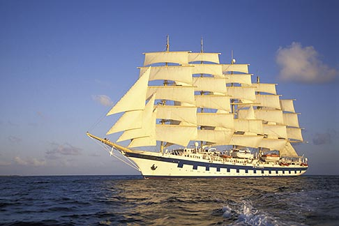 image 3-600-18 Cruises, Clipper Ships, Royal Clipper at full sail