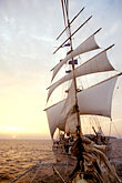 passenger ship stock photography | Cruises, Clipper Ships, Sunset on the Andaman Sea from the Star Flyer, image id 7-544-28