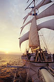 passenger ship stock photography | Cruises, Clipper Ships, Sunset on the Andaman Sea from the Star Flyer, image id 7-544-33
