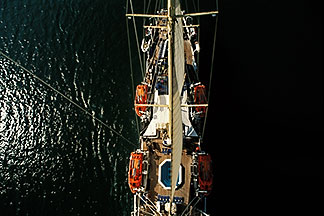 7-545-21  stock photo of Cruises, Clipper Ships, View from atop the mast, Star Flyer