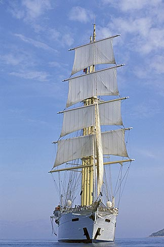 image 9-280-62 Cruises, Clipper Ships, Clipper ship in the Aegean Sea
