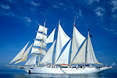 passenger ship stock photography | Cruises, Clipper Ships, Star Flyer in the Aegean Sea, image id 9-281-27