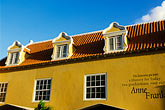gabled roofs stock photography | Cura�ao, Willemstad, Otrobanda, Anne Frank museum, image id 3-431-10